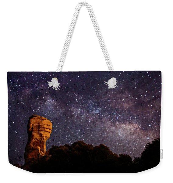 Hitchcock Pinnacle Nightscape -- Milky Way Weekender Tote Bag