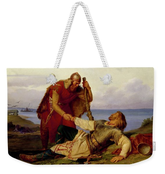 Hjalmar Parting From Orvar Odd After The Fight On Samso Weekender Tote Bag