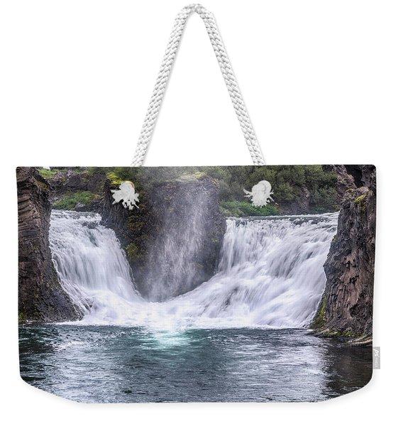 Hjalparfoss - Iceland Weekender Tote Bag