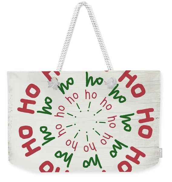 Ho Ho Ho Wreath- Art By Linda Woods Weekender Tote Bag