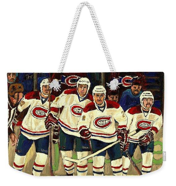 Hockey Art The Habs Fab Four Weekender Tote Bag
