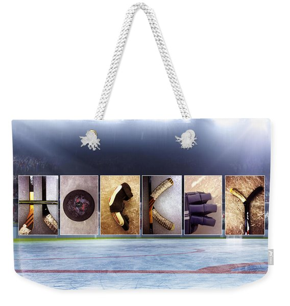 Hockey Weekender Tote Bag
