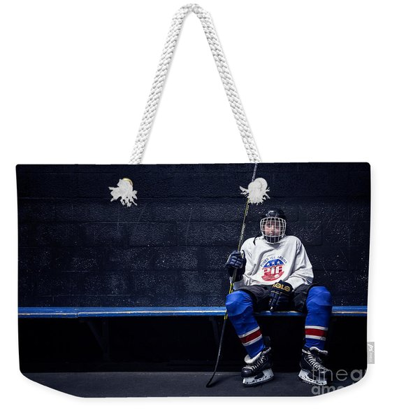 Hockey Strong Weekender Tote Bag