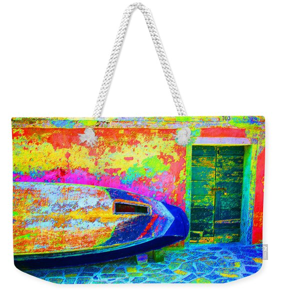 Hole In The Boat Weekender Tote Bag