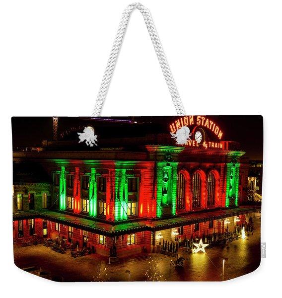Holiday Lights At Union Station Denver Weekender Tote Bag