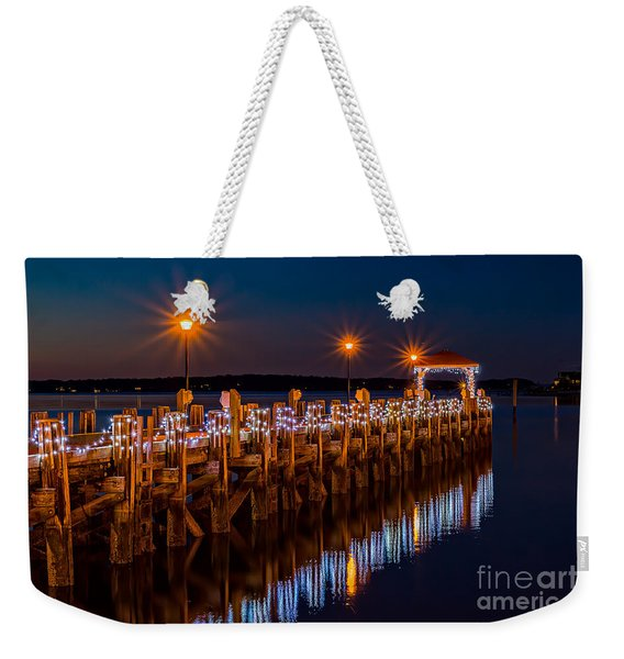 Holiday On The Docks Weekender Tote Bag