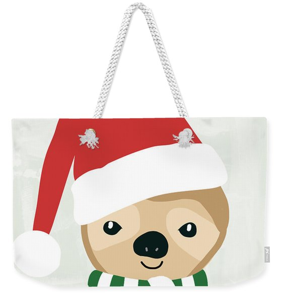 Holiday Sloth- Design By Linda Woods Weekender Tote Bag
