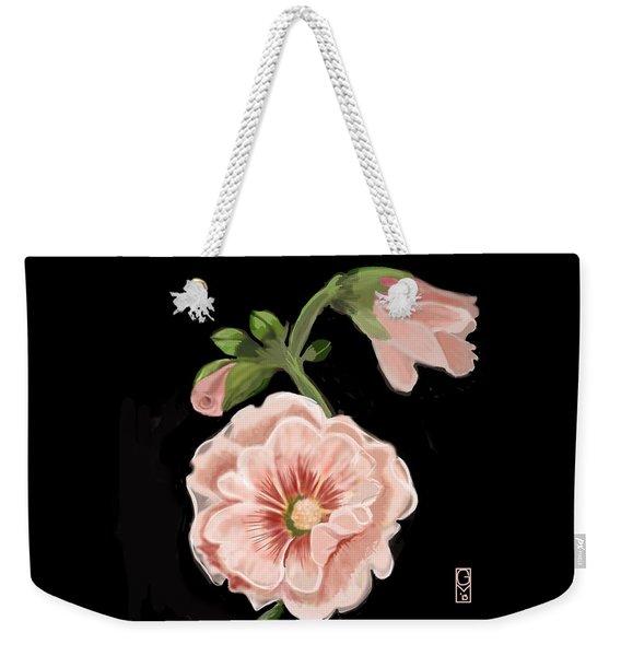 Hollyhock Weekender Tote Bag