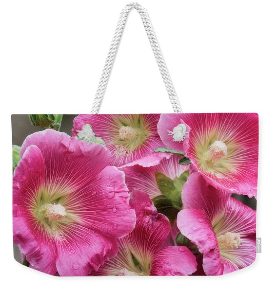 Hollyhock Happiness Weekender Tote Bag