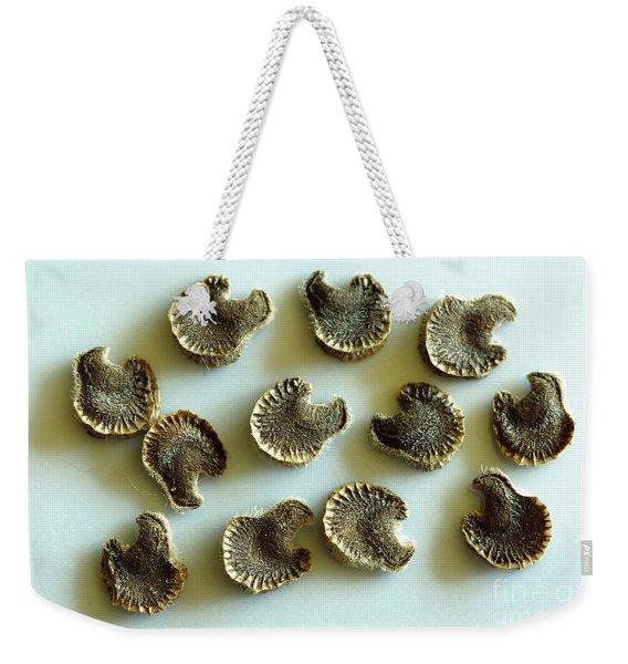 Hollyhock Seeds Weekender Tote Bag