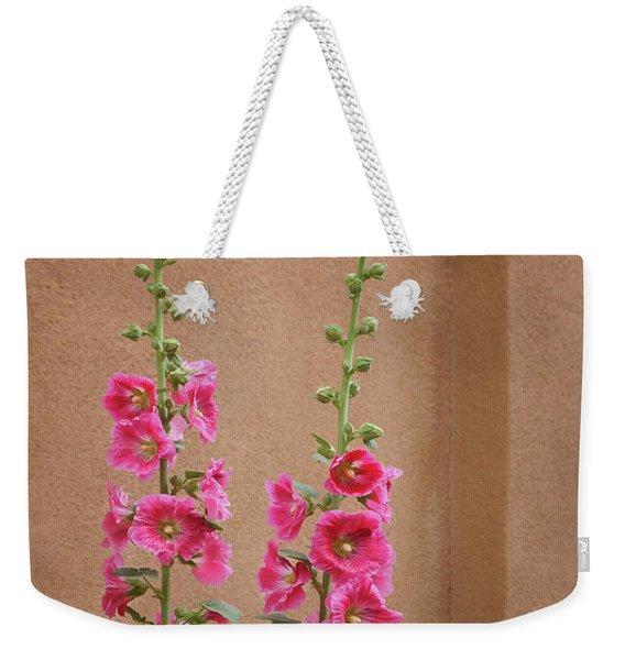 Hollyhocks - Adobe Weekender Tote Bag