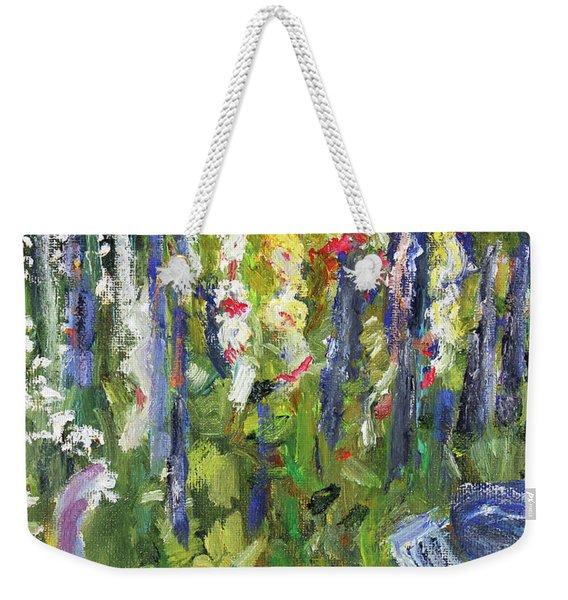 Hollyhocks, After Morisot Weekender Tote Bag