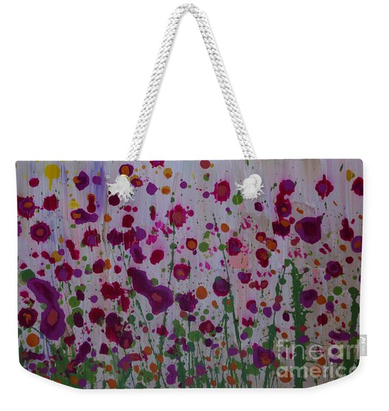 Weekender Tote Bag featuring the painting Hollynation by Jacqueline Athmann