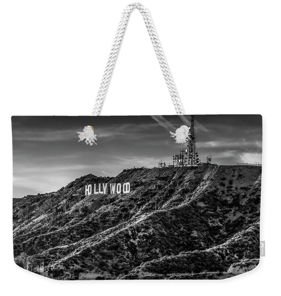 Hollywood Sign - Black And White Weekender Tote Bag