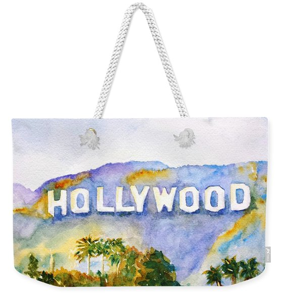 Hollywood Sign California Weekender Tote Bag