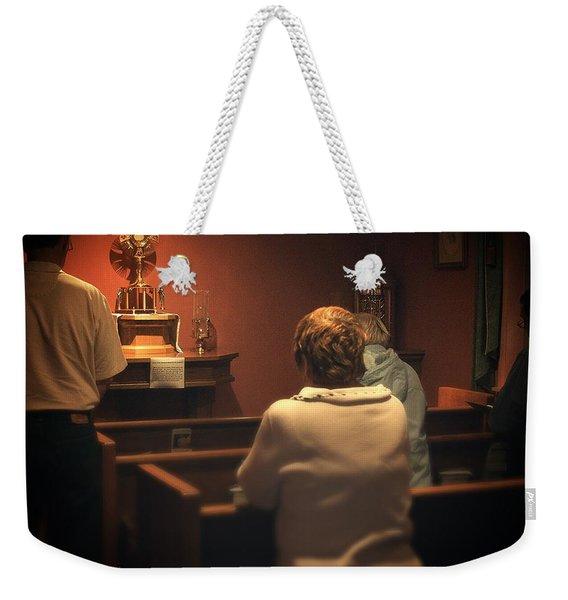 Holy Adoration Altar Weekender Tote Bag