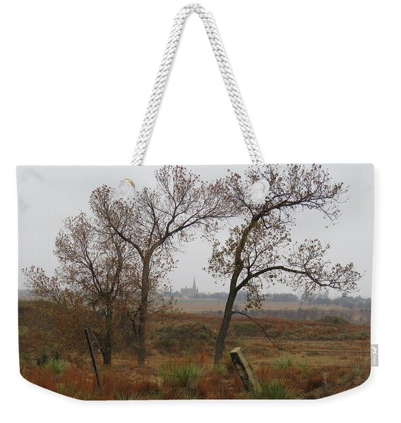 Holy Cross Shrine In The Distance Weekender Tote Bag