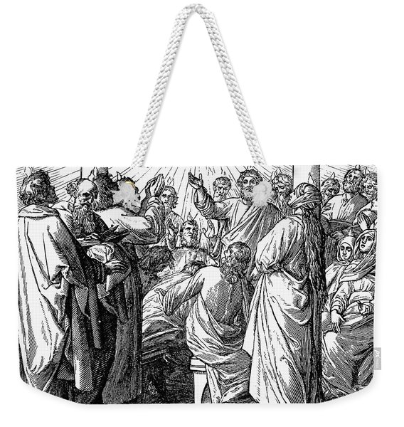 Holy Spirit Visiting Weekender Tote Bag