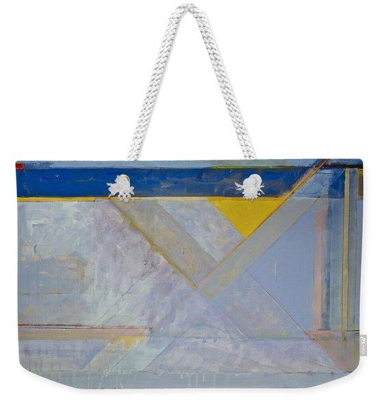 Weekender Tote Bag featuring the painting Homage To Richard Diebenkorn's Ocean Park Series  by Cliff Spohn