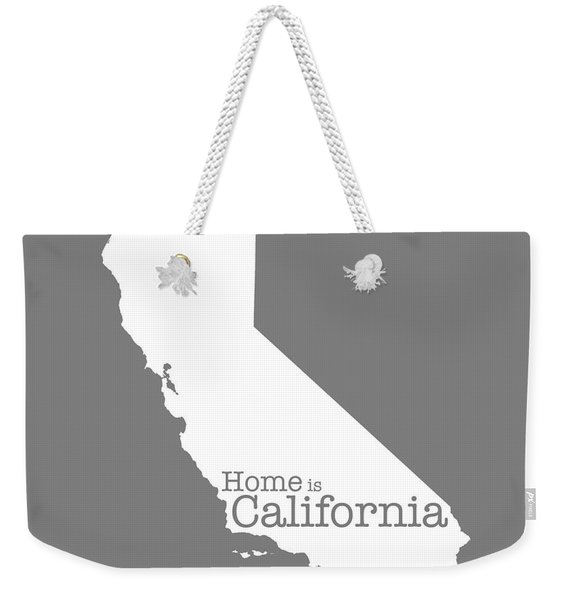 Home Is California Weekender Tote Bag