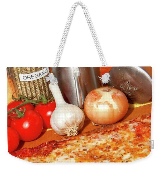Homemade Pizza Weekender Tote Bag