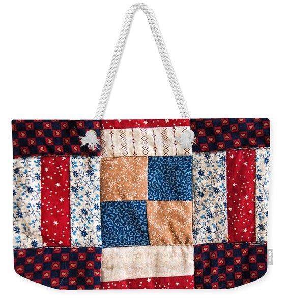 Homemade Quilt Weekender Tote Bag