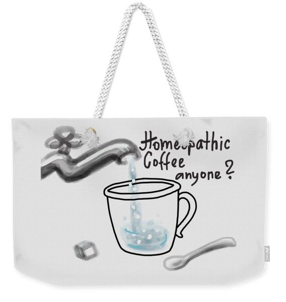 Homeopathic Coffee Weekender Tote Bag