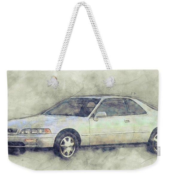 Honda Acura Legend 1 - Executive Car - 1985 - Automotive Art - Car Posters Weekender Tote Bag