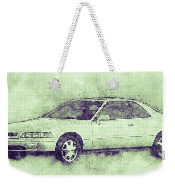 Honda Acura Legend 3 - Executive Car - 1985 - Automotive Art - Car Posters Weekender Tote Bag