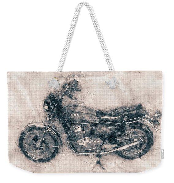 Honda Cb750 - Superbike - 1969 - Motorcycle Poster - Automotive Art Weekender Tote Bag