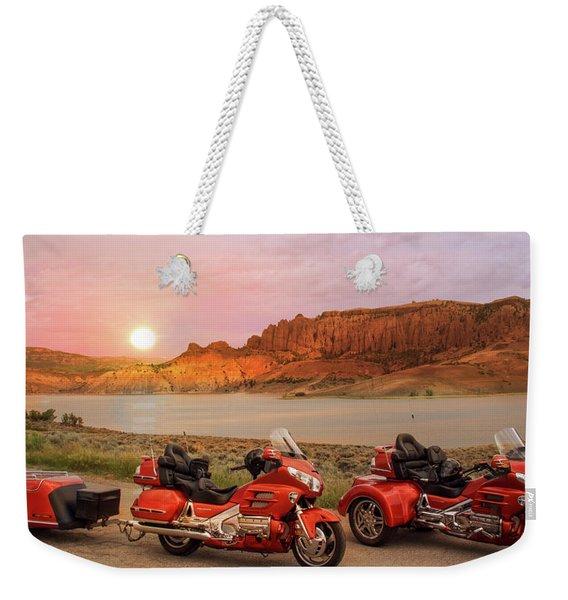 Honda Goldwing Bike Trike And Trailer Weekender Tote Bag