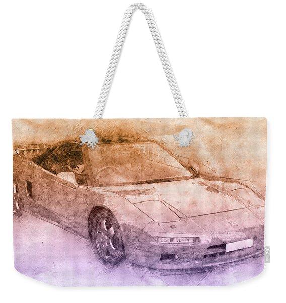 Honda Nsx 2 - Acura Nsx - Sports Car - Automotive Art - Car Posters Weekender Tote Bag