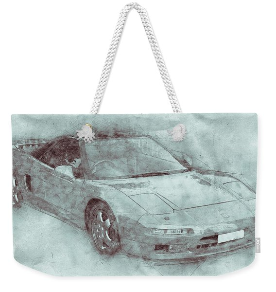 Honda Nsx 3 - Acura Nsx - Sports Car - Automotive Art - Car Posters Weekender Tote Bag