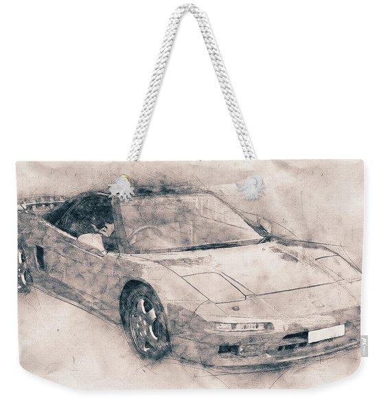 Honda Nsx - Acura Nsx - Sports Car - Automotive Art - Car Posters Weekender Tote Bag