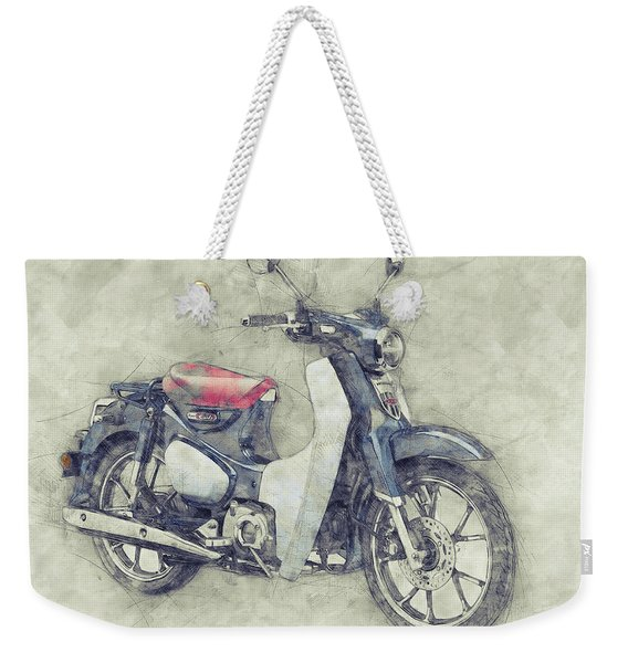 Honda Super Cub 1 - Motor Scooters - 1958 - Motorcycle Poster - Automotive Art Weekender Tote Bag