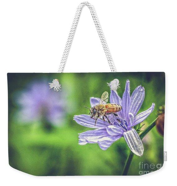 Honey Bee And Flower Weekender Tote Bag