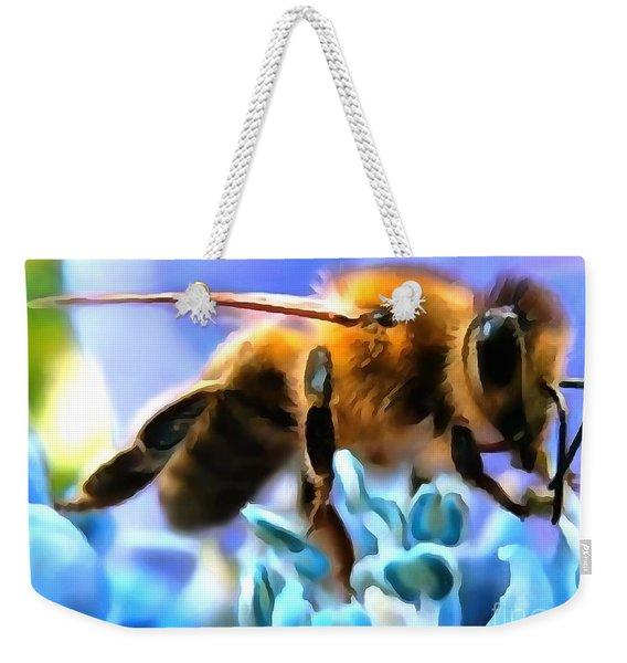 Honey Bee In Interior Design Thick Paint Weekender Tote Bag