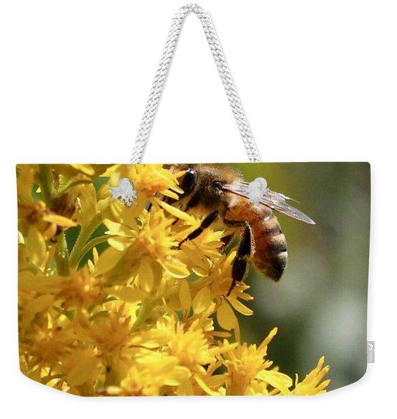 Honeybee On Showy Goldenrod Weekender Tote Bag