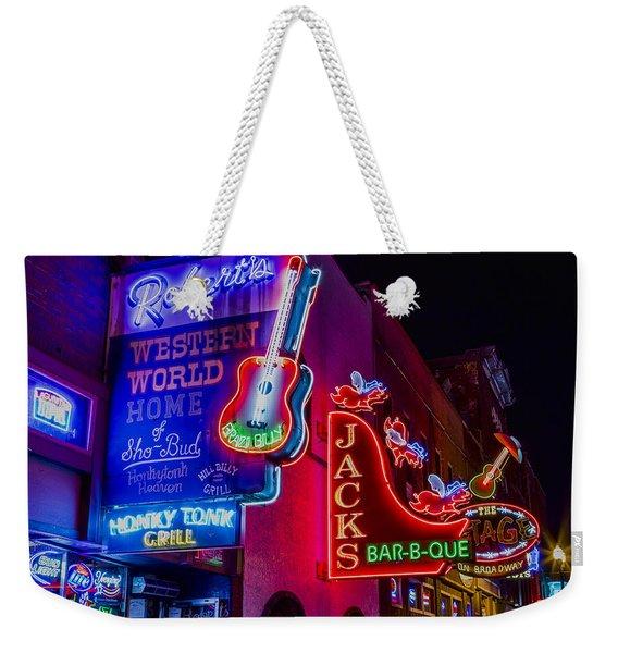 Honky Tonk Broadway Weekender Tote Bag