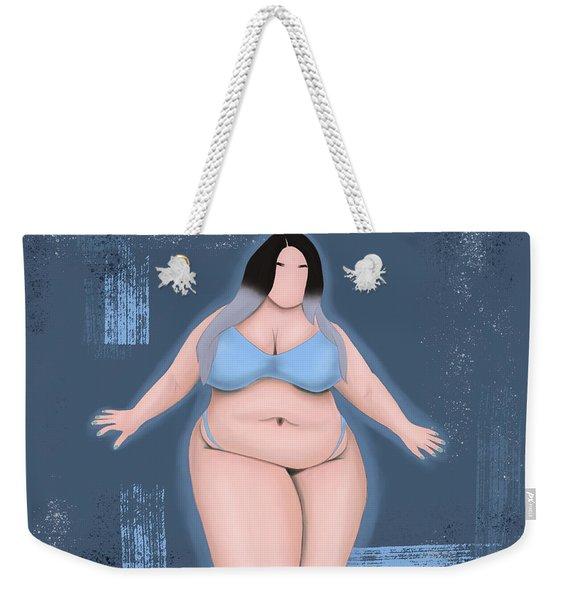 Weekender Tote Bag featuring the digital art Honor My Curves by Bria Elyce