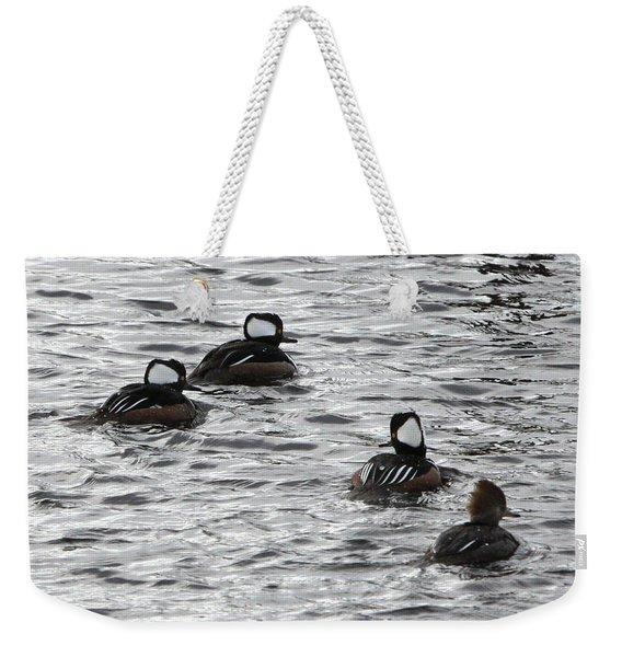 Hooded Mergansers Weekender Tote Bag