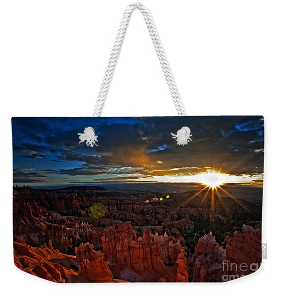 Weekender Tote Bag featuring the photograph Hoodoos At Sunrise Bryce Canyon National Park by Sam Antonio