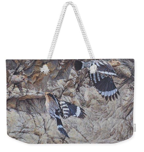 Hoopoes Feeding Weekender Tote Bag