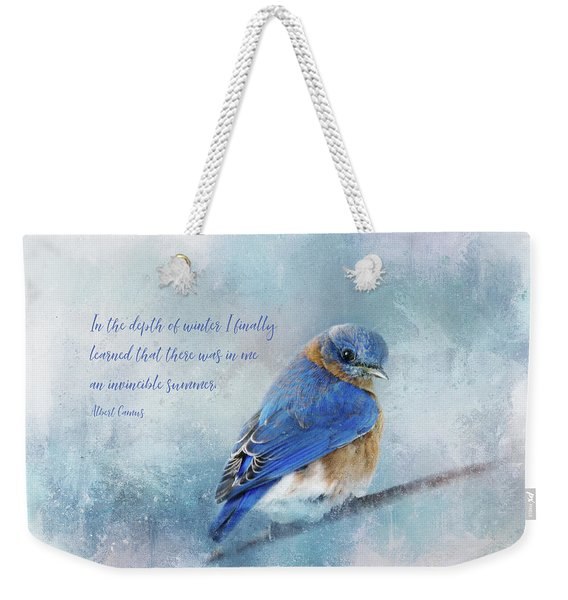 Hope In Winter Weekender Tote Bag