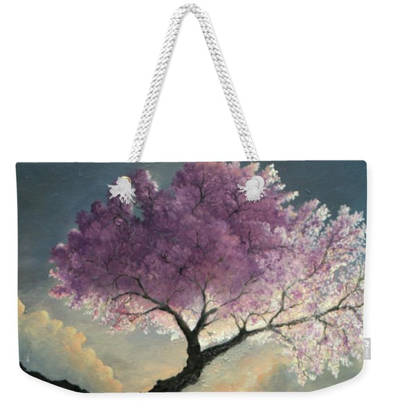 Weekender Tote Bag featuring the painting Hope Inclines by Rosario Piazza