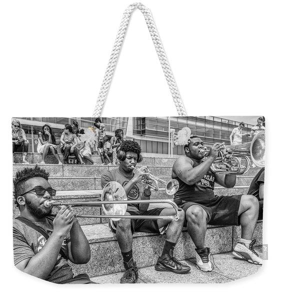 Horns In Detroit Weekender Tote Bag