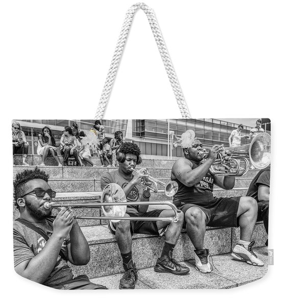 Horns In Detroit Weekender Tote Bag