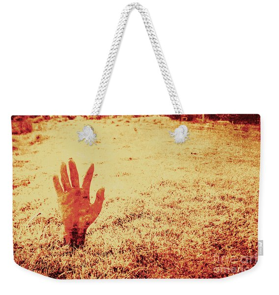 Horror Hand Of A Zombie Awakening Weekender Tote Bag