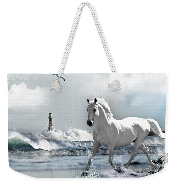 Horse At Roker Pier Weekender Tote Bag