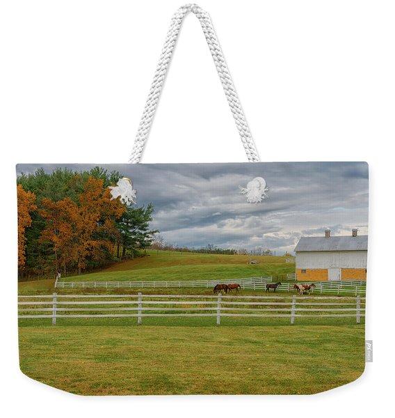Horse Barn In Ohio  Weekender Tote Bag